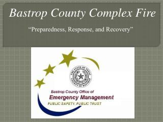 Bastrop County Complex Fire