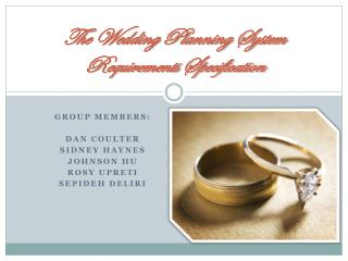 The Wedding Planning System Requirements Specification