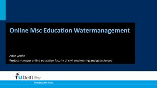 Online  Msc  Education  Watermanagement
