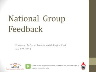 National  Group Feedback