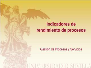 Indicadores de rendimiento de procesos