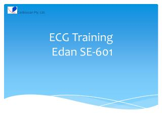 ECG Training Edan  SE-601
