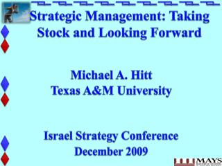 Strategic Management: Taking Stock and Looking Forward