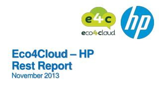 Eco4Cloud  – HP Rest Report November 2013
