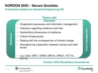 HORIZON 2020 – Secure Societies