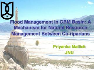 Flood Management in GBM Basin: A Mechanism for Natural Resource Management Between Co- riparians