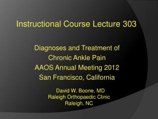 Instructional Course Lecture 303