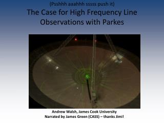 Andrew  Walsh , James  Cook  University Narrated by James Green (CASS) – thanks Jimi!