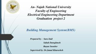 An-  Najah  National University Faculty of Engineering Electrical Engineering Department Graduation  project  2 Buildin