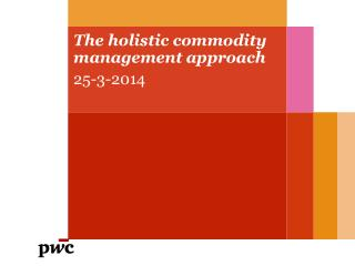 The holistic commodity management approach