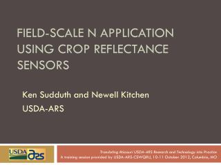 Field-Scale N Application Using Crop Reflectance Sensors
