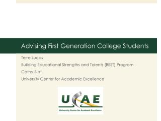 Advising First Generation College Students