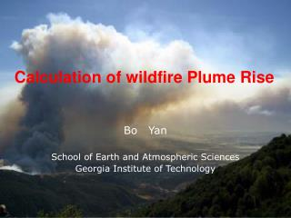 calculation of wildfire plume rise