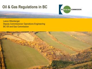 Oil  &  Gas Regulations in BC