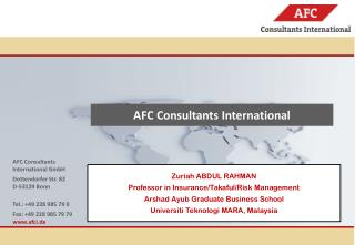 AFC Consultants International