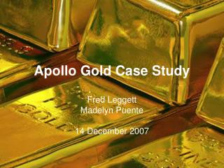 apollo gold case study