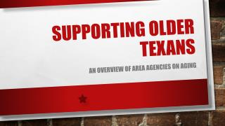 Supporting older  texans