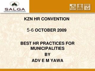 kzn hr convention  5-6 october 2009