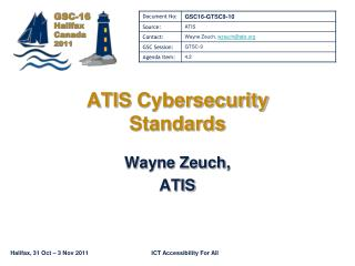 ATIS  Cybersecurity Standards