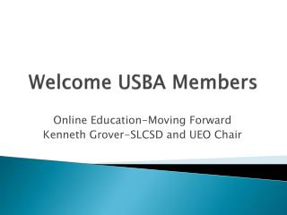 Welcome USBA Members
