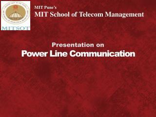 Presentation on Power Line Communication