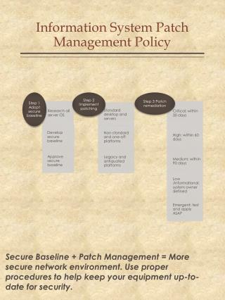 Information System Patch Management Policy