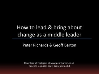 How to lead & bring about change as a middle leader