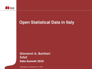 Open  Statistical  Data in Italy
