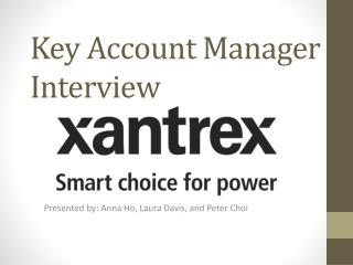 Key Account Manager Interview