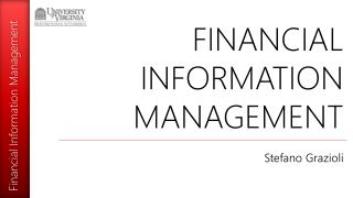 FINANCIAL INFORMATION MANAGEMENT