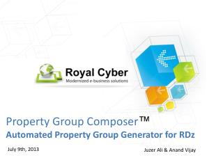 Property Group Composer � Automated Property Group Generator for RDz