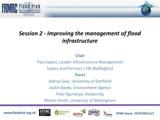 Session 2 - Improving the management of flood infrastructure