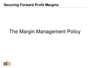 Securing Forward Profit Margins