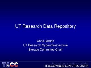 UT  Research Data Repository