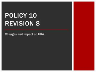 Policy 10 revision 8