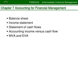 Chapter 7 Accounting for Financial Management