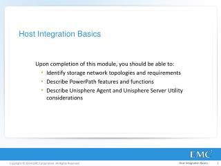 Host Integration Basics