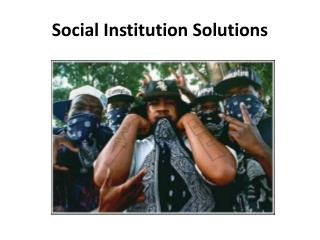 Social Institution  Solutions