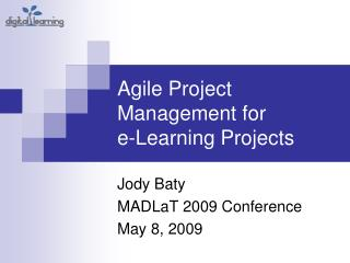 Agile Project Management for  e-Learning Projects