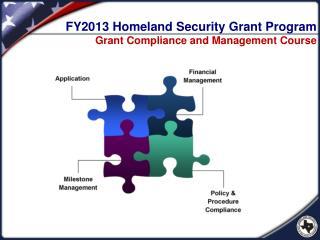 FY2013 Homeland Security Grant Program