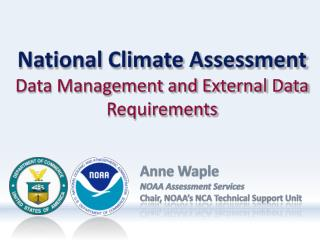 National Climate Assessment Data Management and External Data Requirements