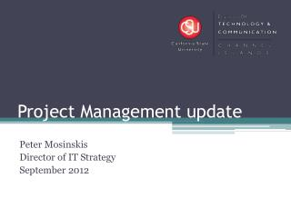 Project Management update