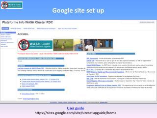 Google site set up