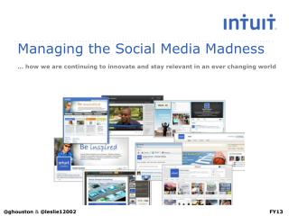 Managing the Social Media Madness … how we are continuing to innovate and stay relevant in an ever changing world