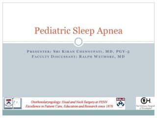 pediatric sleep apnea