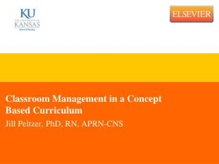Classroom Management in a Concept Based Curriculum