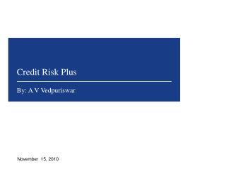 Credit Risk Plus