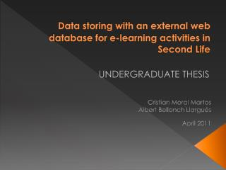 Data storing with an external web database for e-learning activities in Second  Life