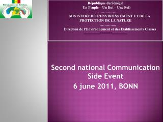 Second national Communication Side Event 6 june 2011, BONN