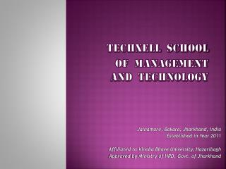 Techxell  school  of  Management  and  technology